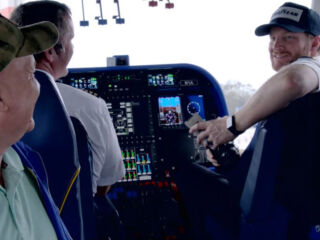 Earnhardt surprises military veteran as Goodyear blimp co-pilot