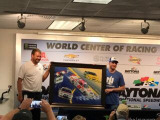 Daytona presents Earnhardt with one-of-a-kind painting