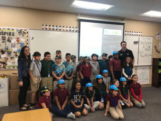 Jimmie Johnson visits Arizona school