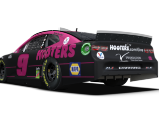 Elliott's pink Hooters 'Give a Hoot' ride unveiled