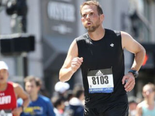 Engine shop teammate finished Boston Marathon alongside Johnson