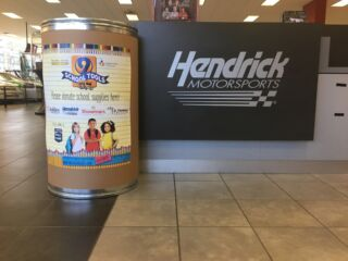Donate school supplies on the Hendrick Motorsports campus for annual School Tools drive