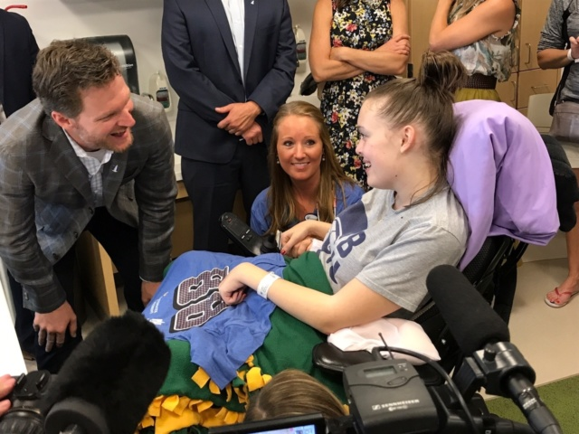Earnhardts recognized at Nationwide Children's Hospital
