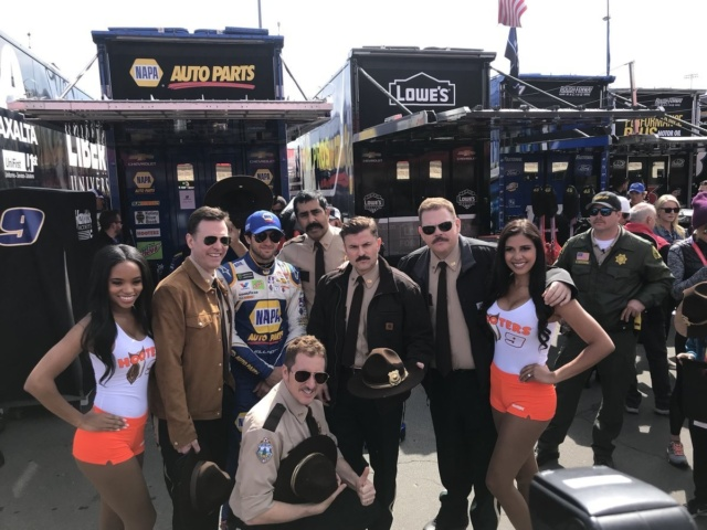 Elliott meets the 'Super Troopers'