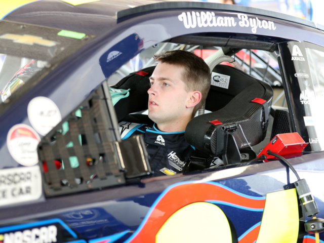 With rookie stripes off, Byron ready to 'take names and win races'