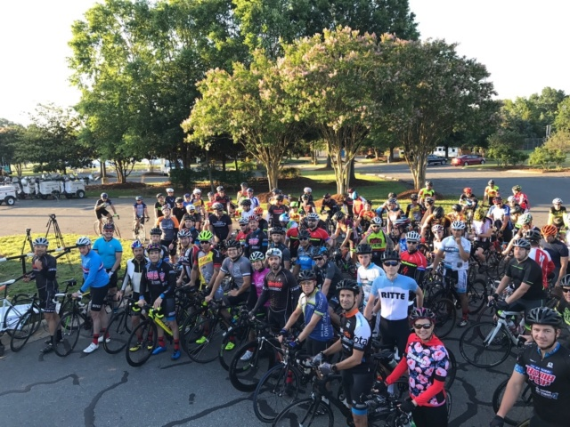 Teammates bike 69 miles in honor of fellow racer