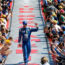 Drivers cue up '90s jams for driver intros at Fontana