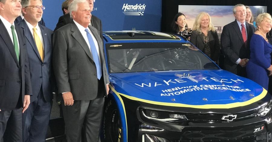 Wake Tech Graduation 2020.Hendrick Automotive Group Donation Helps Start Engines On